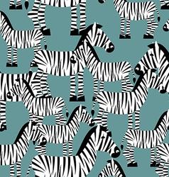 Zebra seamless pattern savannah animal ornament vector