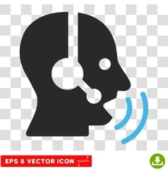 Operator signal eps icon vector