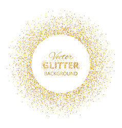 Festive background with golden glitter circle vector