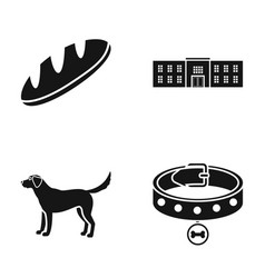 cooking animal and or web icon in black style vector image