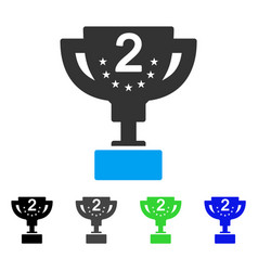 Second prize cup flat icon vector