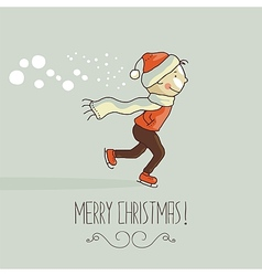 Christmas happy kid vector