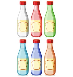 Bottle with lable vector image