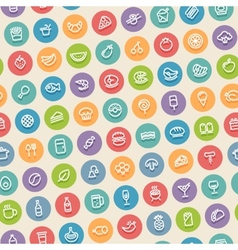 Color tilted seamless pattern with food icons vector
