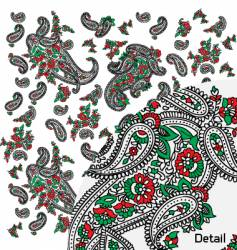 Paisley panel design vector