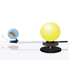 Sun and earth model vector