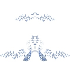 Pattern birds of paradise sitting on a branch vector