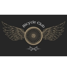 Bicycle wheel emblem vector