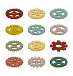 Set of the gears vector
