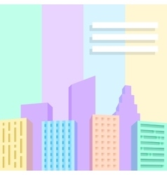 Big city scene vector