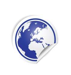 Planet earth sticker in blue vector