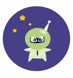 funny spaceman vector image