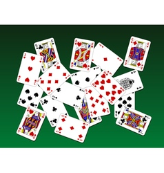 Playing cards on deck vector