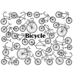 Cycle colorless set vector