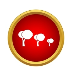 Trees icon simple style vector