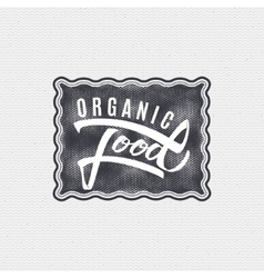 Organic food - labels stickers hand lettering vector