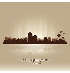 Albuquerque New Mexico skyline city silhouette vector image