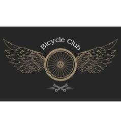 Bicycle wheel emblem vector