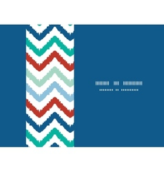 Colorful ikat chevron horizontal border seamless vector