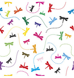 dragonfly pattern seamless background vector image vector image