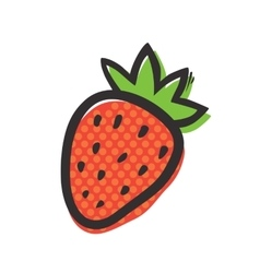 Fresh strawberry isolated vector image