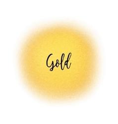 Golden spray dot particles Golden Airbrush vector image