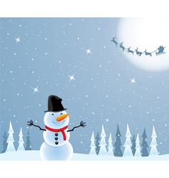 happy snowman vector image
