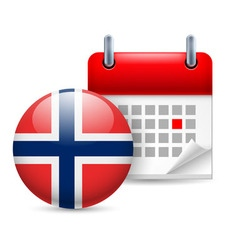Icon of national day in norway vector image