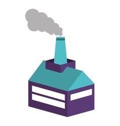 Industry factory building icon isometric vector
