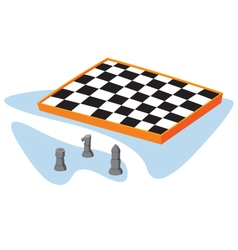 Isometric chess vector
