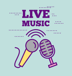 Live music concert vector