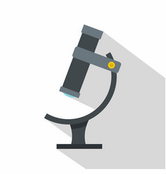 Medical microscope icon flat style vector