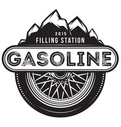 monochrome template for gas station with vector image