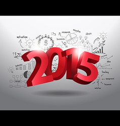 New year 2015 three dimensional vector image