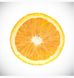 Polygonal orange fruit icon vector