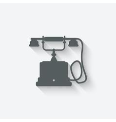 Retro phone design element vector