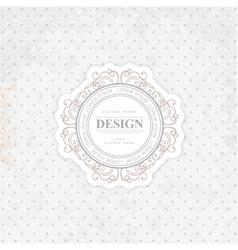 Retro Vintage Insignia vector image