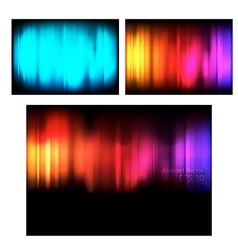 Set abstract backgrounds vector image vector image