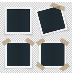 Set of 4 different image frames with shadow vector
