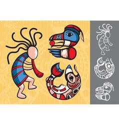 set of stylish american indian symbols vector image vector image