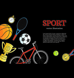 Sketch sport symbol icon pattern poster vector