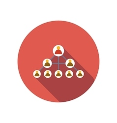 Social networks flat icon vector image