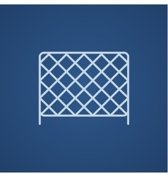 Sports nets line icon vector