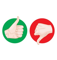 thumb up thumb down icon vector image vector image