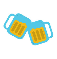 Two glass beer drink beverage liquor alcohol vector