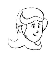 Woman cartoon face vector