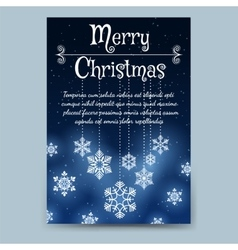 Winter brochure template with snowflake garland vector