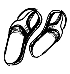 Thongs sketch vector