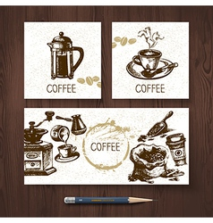 Identity set of coffee banners vector
