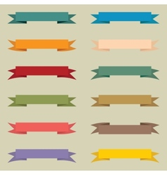 Set of multicolored vintage banners vector